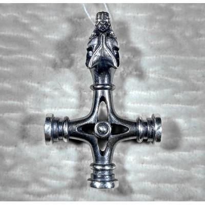 Амулет крест волка