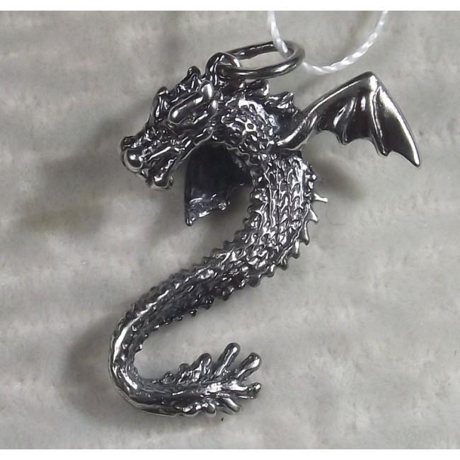 Подвеска серебряная  Дракон