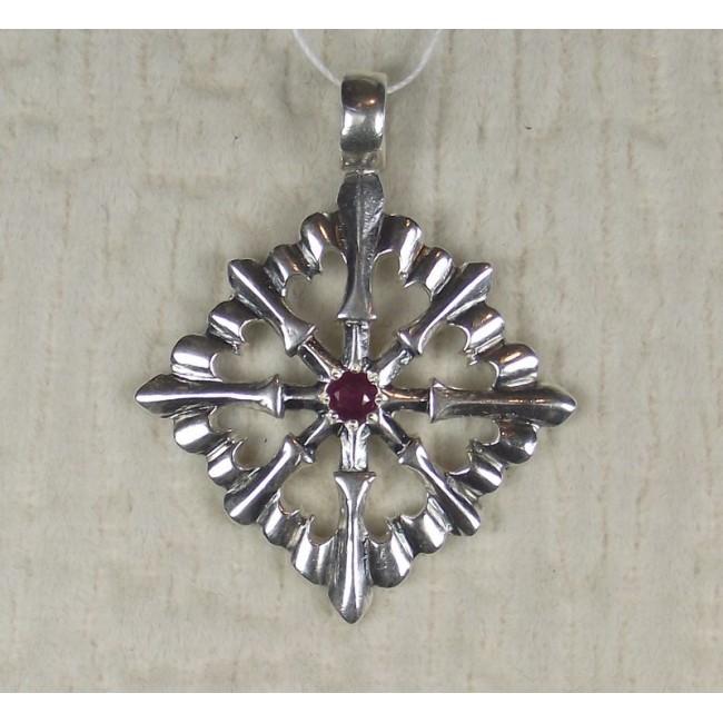 Талисман крест с лилиями