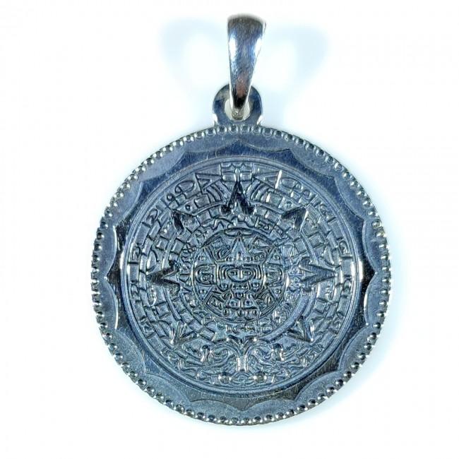 Талисман серебро Календарь Ацтеков
