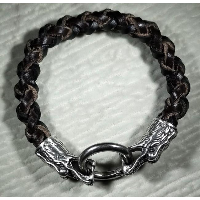 Браслет серебряный дракон