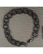 Браслет черное серебро