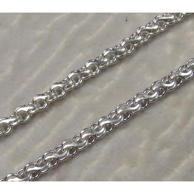 Браслет серебряный бисмарк