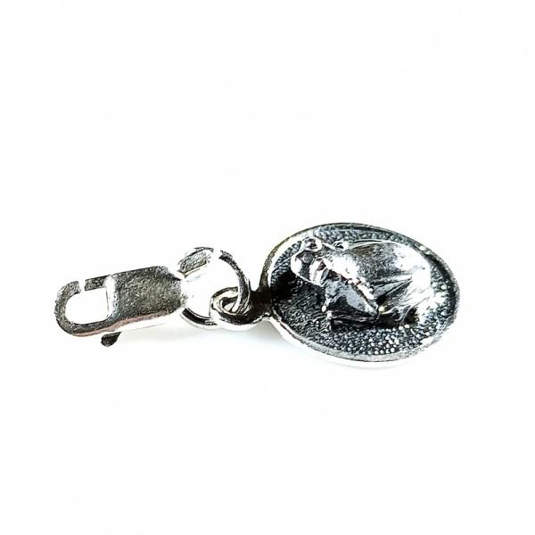 Брелок лягушка с монетой