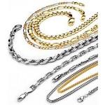 Золотые, серебряные цепи.
