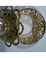 Соска детская серебряная позолоченная с бриллиантами