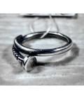 Кольцо гвоздь серебро