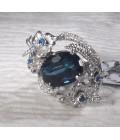 кольцо серебряное с акварцем