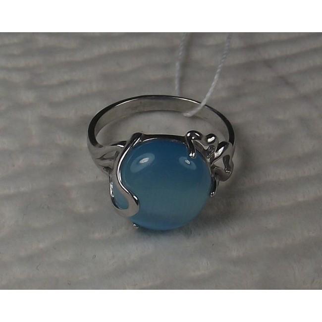 кольцо серебряное кошачий глаз
