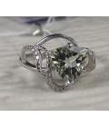кольцо серебряное с зеленым аметистом