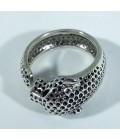 Кольцо пантера серебро