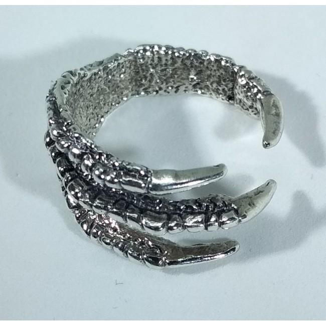 Кольцо черепа серебро
