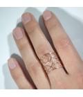 Кольцо золотое на большой палец