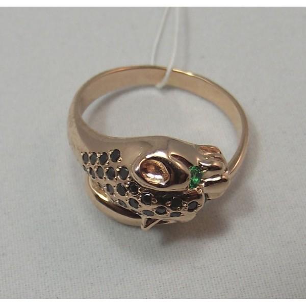 Кольцо золотое с нанокристаллами