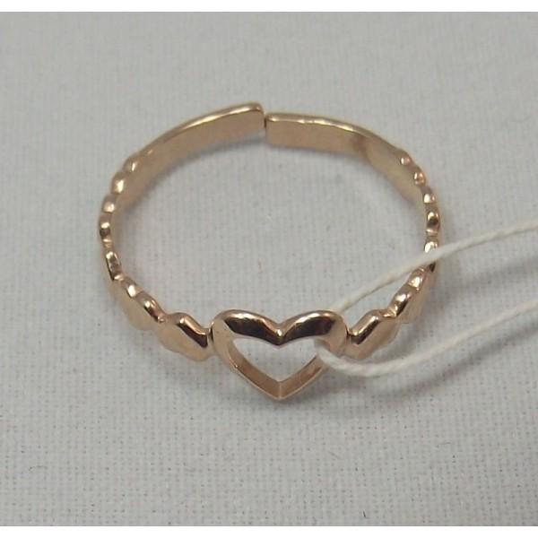 Кольцо золотое на фалангу