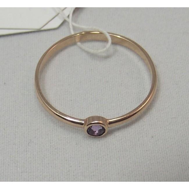 Кольцо золотое с аметистом