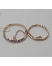 Кольцо золотое двойное