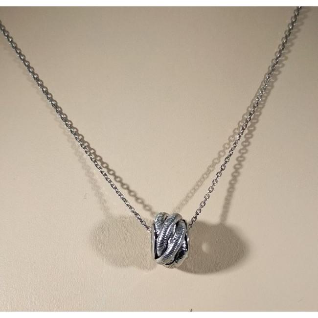 Колье серебряное