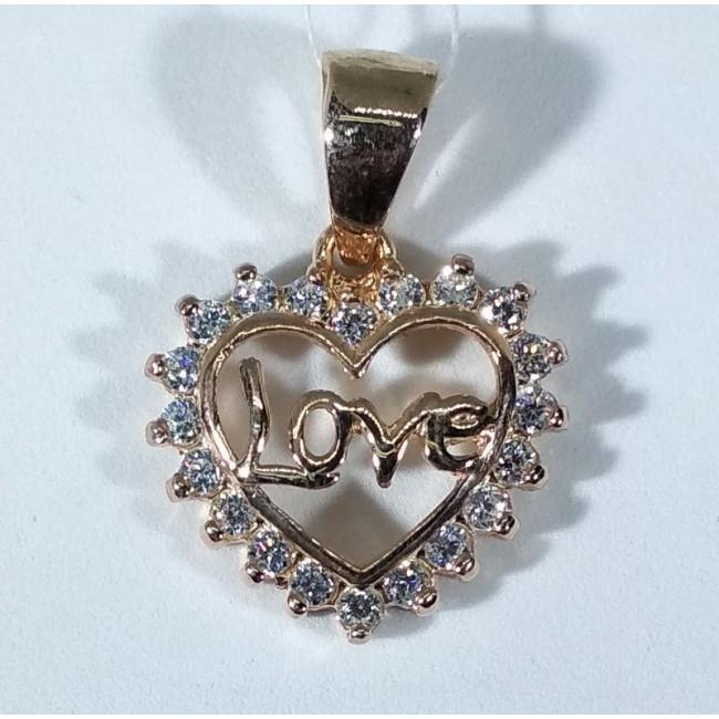 Подвеска серебряная сердце