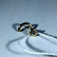 Пирсинг в нос с бриллиантом