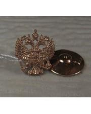 значок герб России (позолота)
