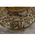 Соска серебряная позолоченная с бриллиантами