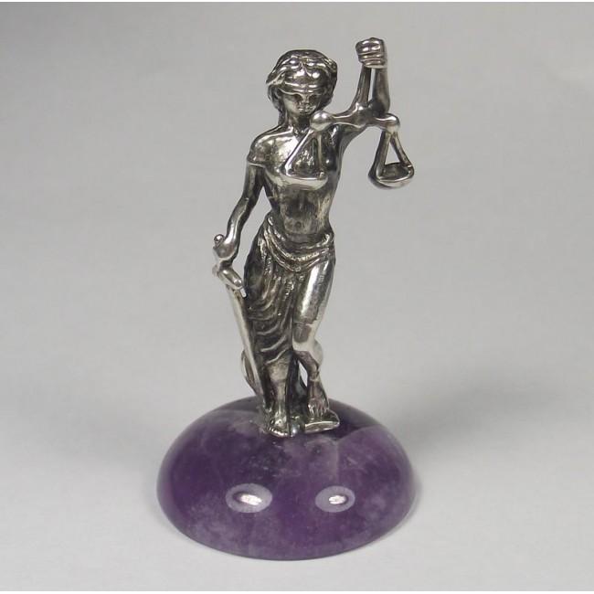 Фемида серебряная статуэтка