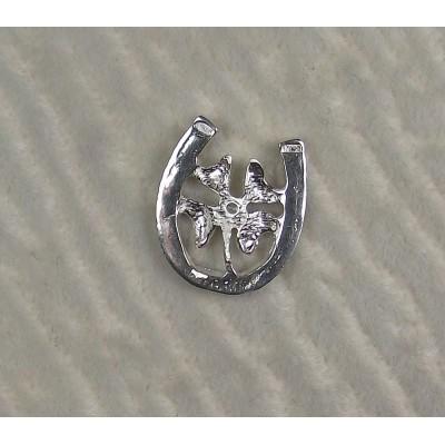 Подкова - четырехлистный клевер с бриллиантом