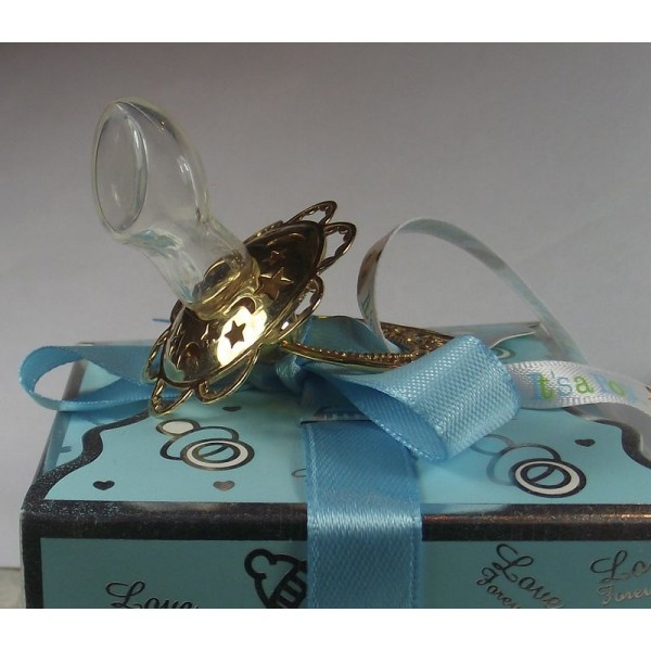 Соска детская серебряная позолоченная