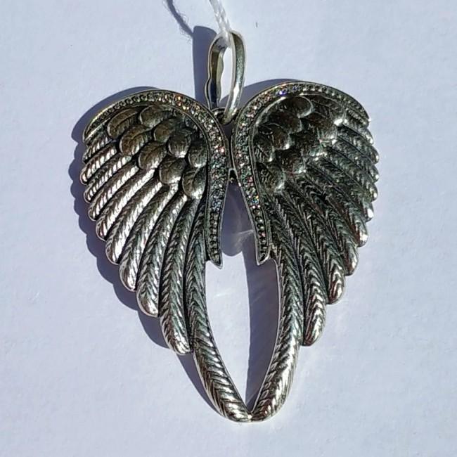 Серебряная подвеска  крылья
