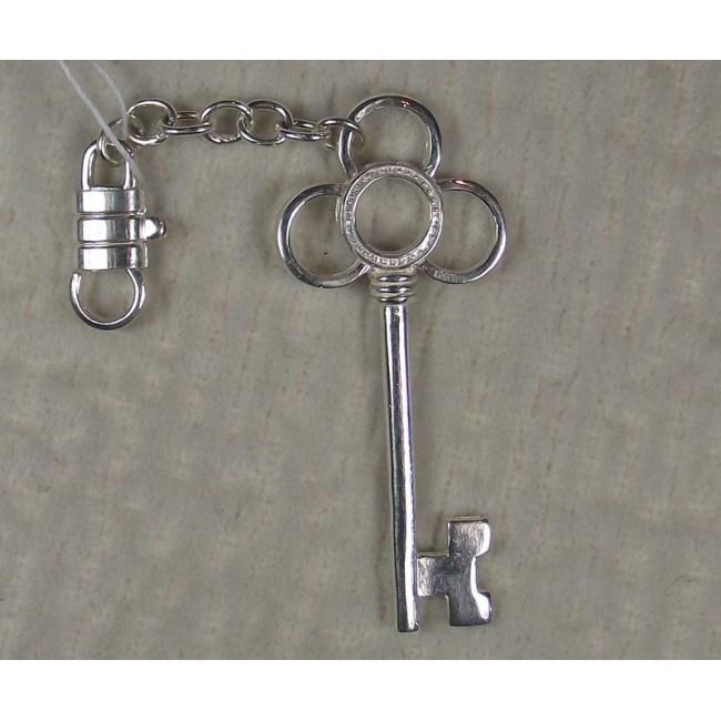 """Брелок серебряный """"ключ"""""""