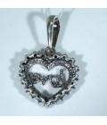 Кулон серебряный сердце
