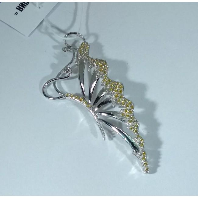 подвеска серебряная бабочка