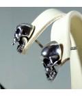 Серебряные серьги черепа