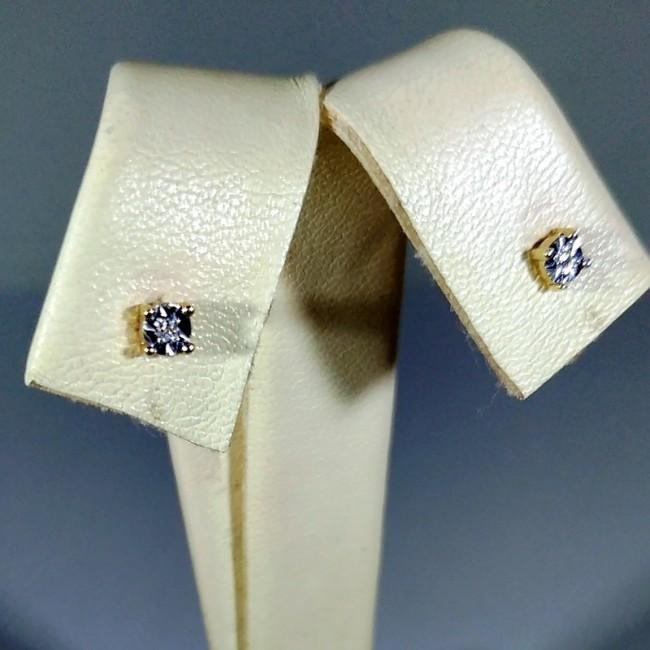 Серьги пусеты с бриллиантами